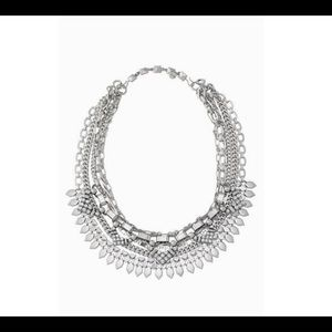 Stella & Dot Silver Sutton Statement Necklace